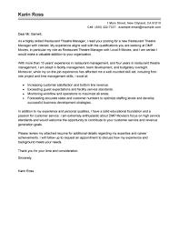 Lovely Sample Cover Letter For Restaurant Position With Head
