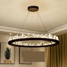 top 10 modern deluxe ring crystal lamp for living room bar round melted crystal chandeliers large led strip res de cristal lighting best ideas