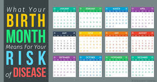 Birth Month And Disease Chart Risk Factors Of Certain Diseases Linked To Birth Month