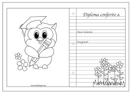 Diplomi Per Bambini Da Stampare E Colorare Pagine Da Colorare E