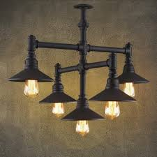 industrial style 5 light led mini chandelier