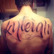 Name tattoo. Back tattoo   Back tattoo, Great tattoos, Tattoos