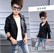 boys real leather jacket children lapel clothing small jackets motorcycle for boy in coats from mother