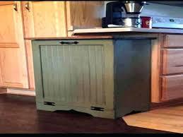 wood trash can bin wooden trash cans for kitchen primitive wood trash can bin tilt out