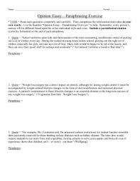guidelines for paraphrasing ims opinion essay paraphrasing exercise laca
