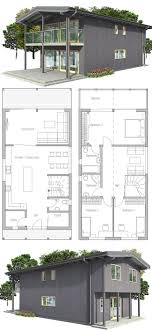 images about Narrow House Plans on Pinterest   Narrow house    Small house plan  Big windows  abundance of natural light  three bedrooms  Small