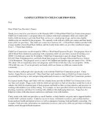 Sample Letter Of Recommendation For Daycare Provider Letter Of Recommendation Child Care Calmlife091018 Com