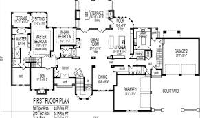 Dream house floor plans blueprints story bedroom large home
