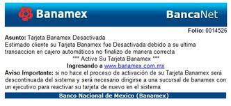 De Falso Txoro Banamex Datos Matutino Correo Cometer ¡alerta Para Pide Fraude El