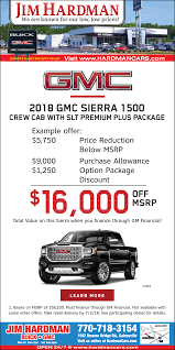 2018 gmc sierra 1500 crew cab in gainesville ga auto dealerships jim hardman buick gmc