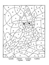 halloween color by number worksheets halloween color number pages ...
