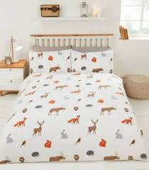 country animals winter duvet cover