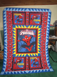 The 14 best images about PANEL on Pinterest | Fat quarters, Quilt ... & Spiderman quilt made for my 6 year old grandson. Machine pieced with some  pre- Adamdwight.com