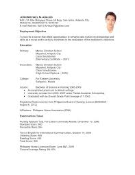 Bunch Ideas Of Resume Sample Without Work Experience Resume Example