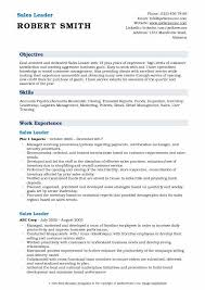 Sales Leader Resume Samples | Qwikresume