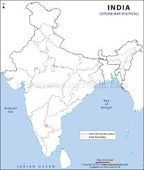 India Political Map In A4 Size Geography For Kids Pinterest