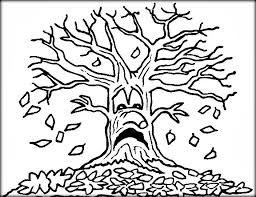 Small Picture Bare Tree Coloring Pages Color Zini