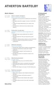 Senior Graphic Designer Resume Samples Visualcv Resume Samples