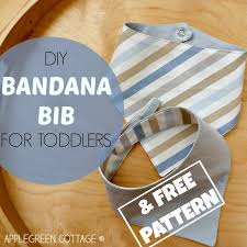how to make a free bandana bib tutorial with a free pattern applegreen cottage