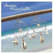 Hawaiian Dream Catcher Beauteous Items Similar To Hawaiian Dream Catcher Earring White On Etsy