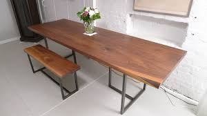 Handmade Walnut Dining Table By Harvest Home Steel CustomMadecom - Walnut dining room furniture