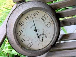 old decorative outdoor thermometer