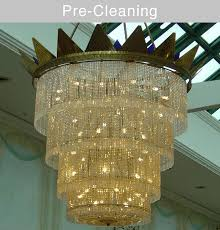 onsite chandelier cleaning services meadowhall ping centre before cleaning