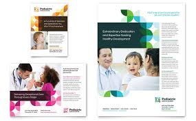 children hospital flyers medical health care print ads templates design examples