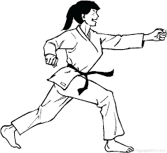 karate coloring page pages lovely free of girl new colouring 2 printable kara karate coloring page