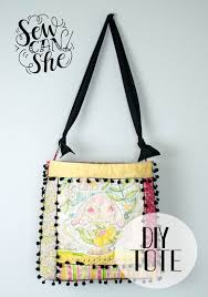 Quilt As You Go (QAYG) Tote with Pom Poms - easy sewing tutorial ... & Quilt As You Go (QAYG) Tote with Pom Poms - easy sewing tutorial —  SewCanShe | Free Sewing Patterns for Beginners Adamdwight.com