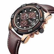 <b>Men Business</b> Watch Luxury Leather <b>Chronograph Quartz</b> Military ...