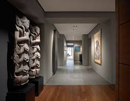 wall accent lighting. Asian Hallway Photo In San Francisco With Gray Walls Wall Accent Lighting G