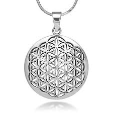 flower of life sacred geometry necklace pendant