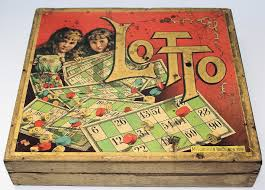 Wooden Box Board Games Antique Victorian Era 100 GAME OF LOTTO by McLoughlin Bros in 16