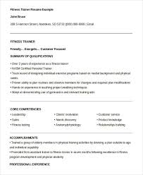 Personal Trainer Resume Extraordinary 60 Personal Trainer Resume Templates PDF DOC Free Premium