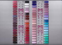 Nail Color Chart Dnd Gel Nail Polish Dc Duo Pak Color Chart 1 72