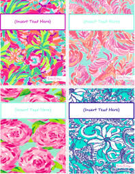Printable Lilly Binder Covers Download Them Or Print