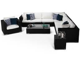 furniture range black corner sofa set contemporary outdoor rattan sofa set