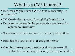 How To Create Resume In Word Cool How To Write A CV What Is A CVResume ResumeOrigin French Word R