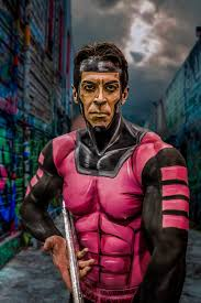 nomad of x men fame body paint by calgary based makeup artist lianne moseley