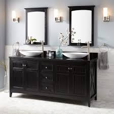 double bathroom vanity awesome 72 alvelo vessel double sink vanity black bathroom