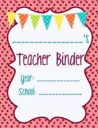 Teacher Binder Templates Teacher Binder Separator Basics Teaching Classroom Ideas