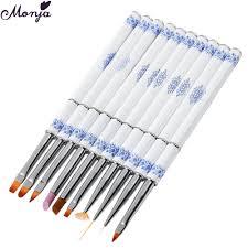 10Pcs/set Nail Art Brushes Pen UV Gel Extension Line Drawing ...