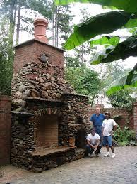 elegant outside brick fireplaces