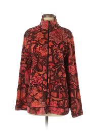 Details About Chicos Women Red Jacket Sm