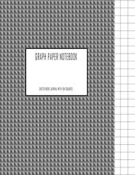 Graph Paper Notebook Sketch Book Journal With 1cm Squares 120 Pages Graphite Gray 8 5