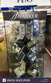Stationary Display Stand Parker pen pens display stand cabinet in shop store selling Stock 2