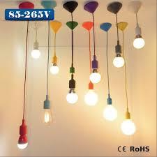 silicone pendant lights lamp holder cord base e27 85 265v 5w 7w 9w 12w led lamp bulb for diy droplight art lighting