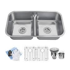 32 12 Undermount Double Basin Stainless Steel Kitchen Sink