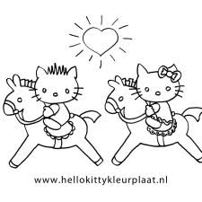 Hello Kitty Kleurplaat
